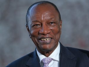 Alpha Conde, President of Guinea, will be challenged in elections next year. Getty Images